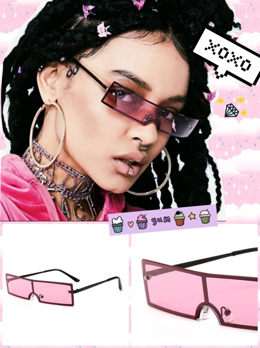 BlissGirl - Cyberpunk Shades - Pink - Harajuku - Kawaii - Alternative - Fashion