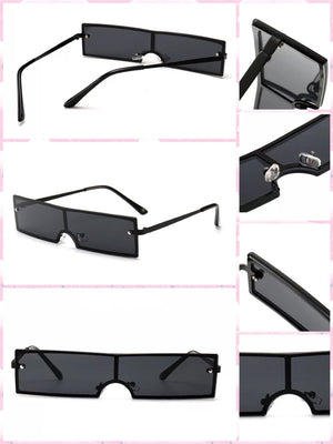 BlissGirl - Cyberpunk Shades - Black - Harajuku - Kawaii - Alternative - Fashion