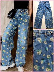 BlissGirl - Daisy High Waist Jeans - M - Harajuku - Kawaii - Alternative - Fashion