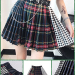 BlissGirl - Deconstrukt Pleated Plaid Skirt - Harajuku - Kawaii - Alternative - Fashion