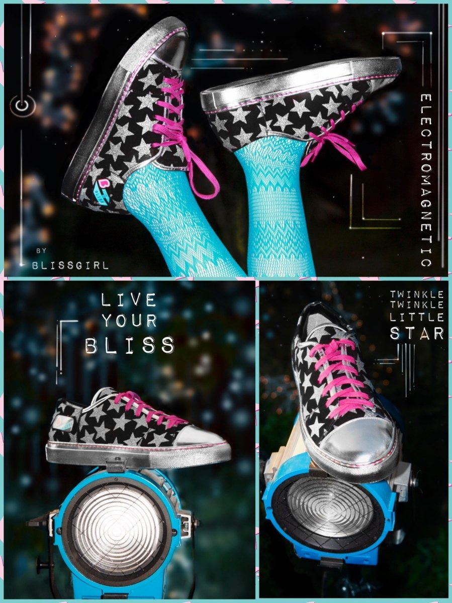 BlissGirl - ElectroMagnetic Skater Shoe - 6 - Harajuku - Kawaii - Alternative - Fashion