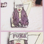 BlissGirl - Fashionista Friend Pins - F*ck - Harajuku - Kawaii - Alternative - Fashion