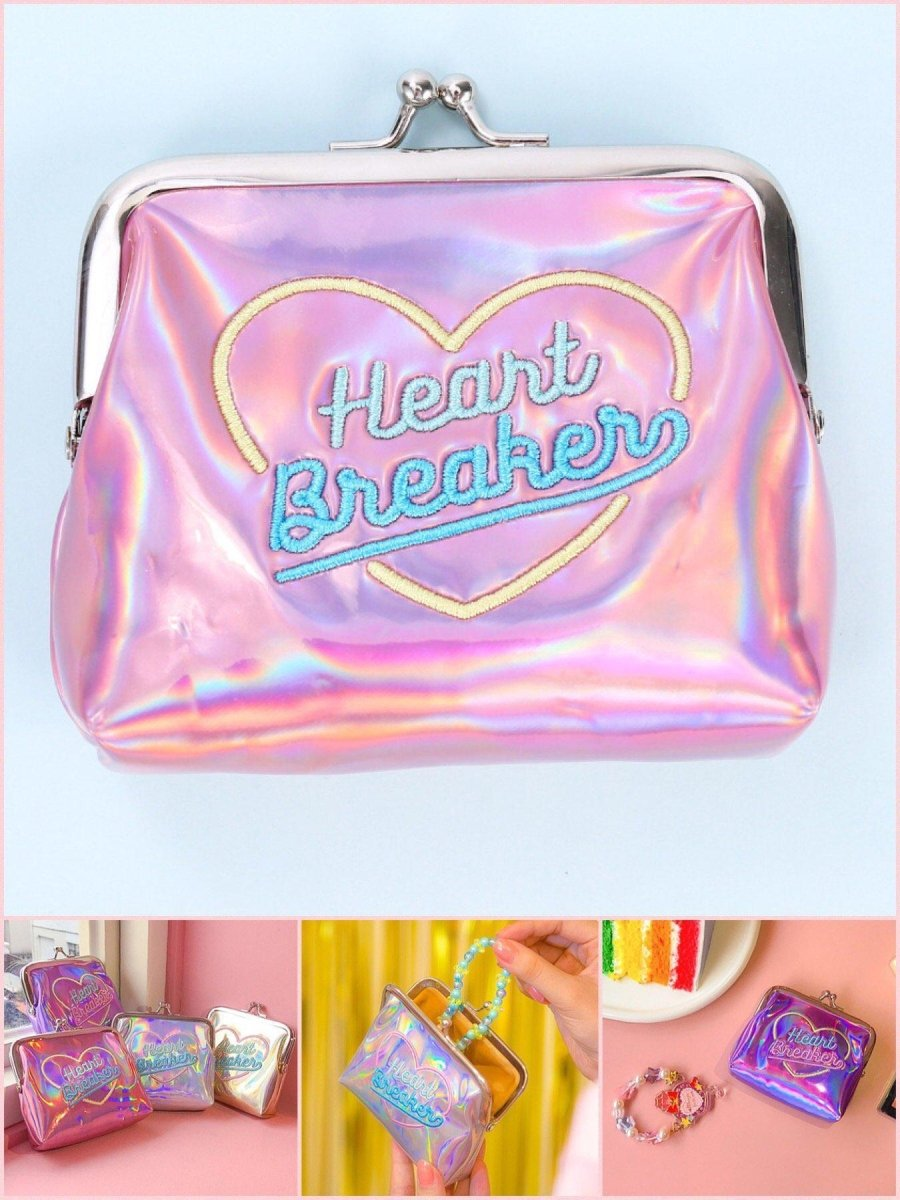 BlissGirl - Foxy Lady Heart Breaker Vinyl Coin Purse - Harajuku - Kawaii - Alternative - Fashion