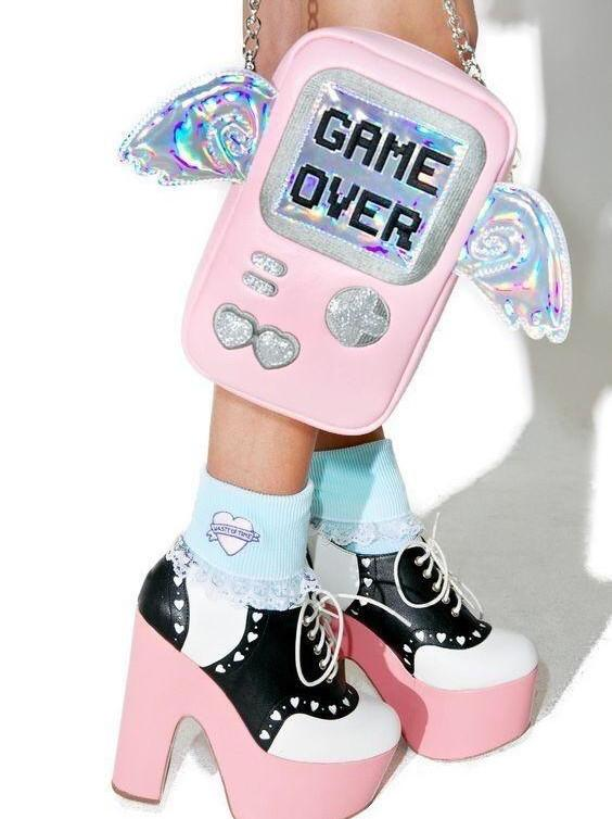 BlissGirl - Game Over Clutch - pink - Harajuku - Kawaii - Alternative - Fashion