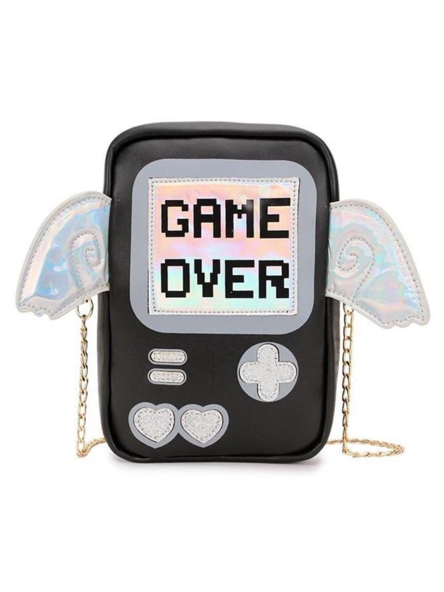 BlissGirl - Game Over Clutch - black - Harajuku - Kawaii - Alternative - Fashion