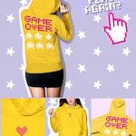 BlissGirl - Game Over Hoodie - S / Gold - Harajuku - Kawaii - Alternative - Fashion