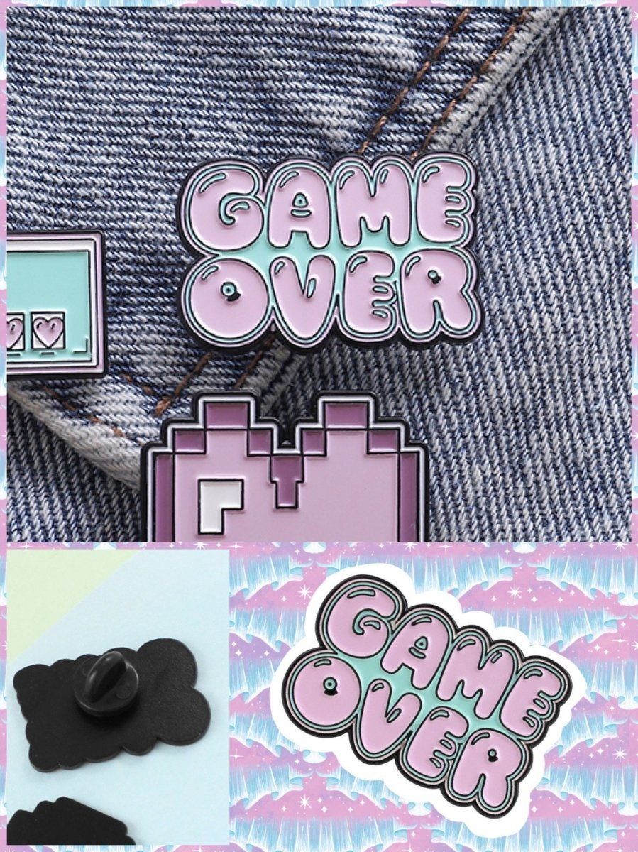 BlissGirl - Game Over Pin - Game Over - Harajuku - Kawaii - Alternative - Fashion