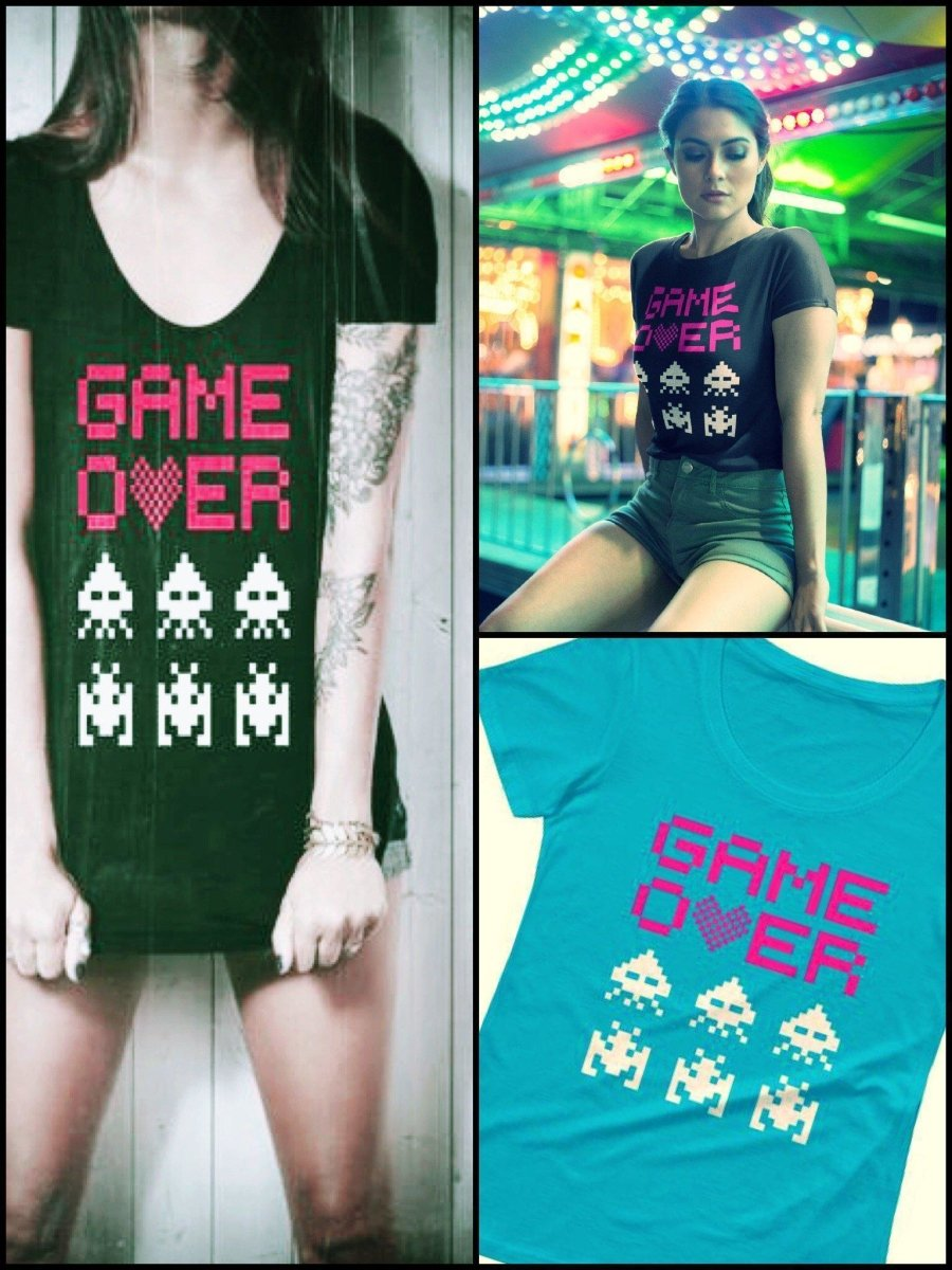 BlissGirl - Game Over Tee - Harajuku - Kawaii - Alternative - Fashion