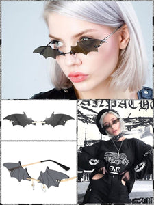 BlissGirl - Gothic Bat Sunglasses - Black - Harajuku - Kawaii - Alternative - Fashion