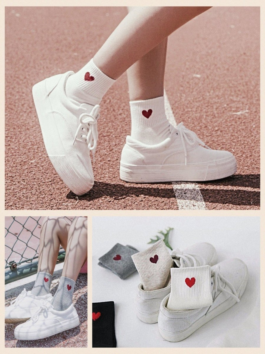 BlissGirl - Heart Socks - Harajuku - Kawaii - Alternative - Fashion