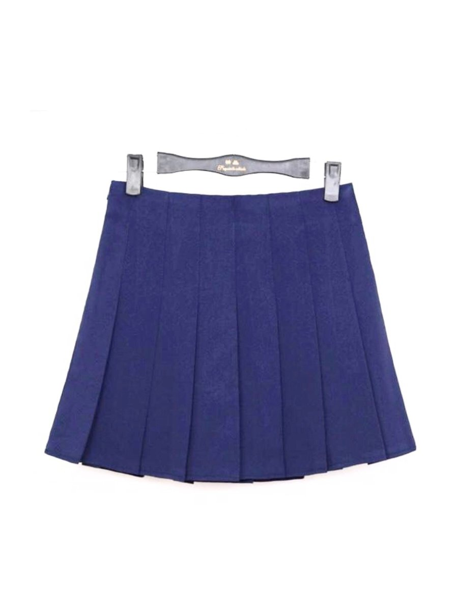 BlissGirl - High Waist Pleated Skirt - Navy Blue / XS - Harajuku - Kawaii - Alternative - Fashion