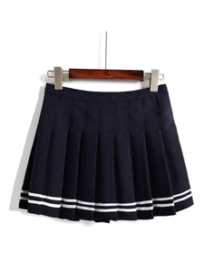 BlissGirl - High Waist Tennis Skirt - Black / S - Harajuku - Kawaii - Alternative - Fashion