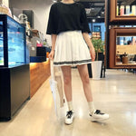 BlissGirl - High Waist Tennis Skirt - Harajuku - Kawaii - Alternative - Fashion