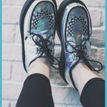 BlissGirl - Holographic Creepers - Silver / 40 - Harajuku - Kawaii - Alternative - Fashion