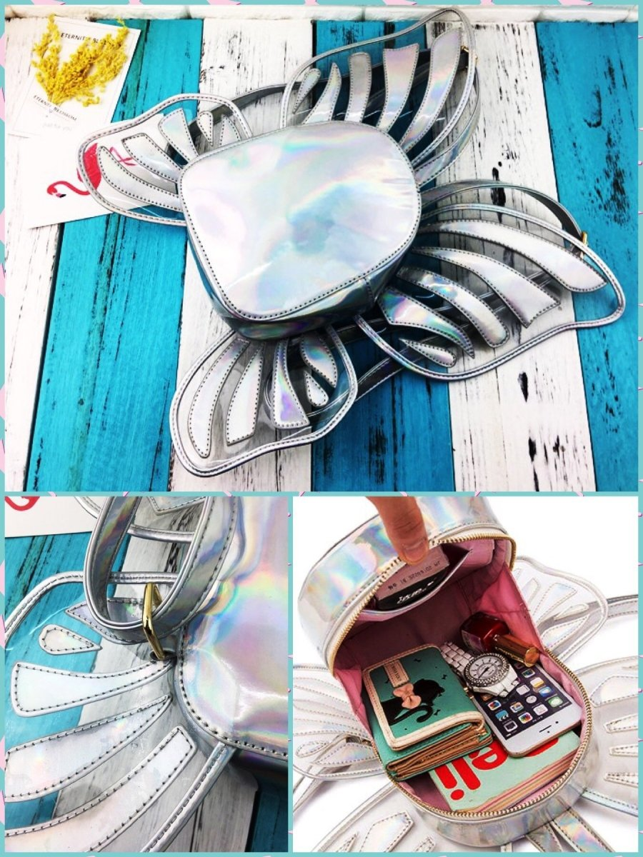 BlissGirl - Holographic Fairy Wings Mini Backpack - Harajuku - Kawaii - Alternative - Fashion