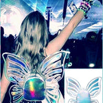 BlissGirl - Holographic Fairy Wings Mini Backpack - Multi - Harajuku - Kawaii - Alternative - Fashion