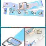 BlissGirl - Holographic Punky Belt - Square - Harajuku - Kawaii - Alternative - Fashion