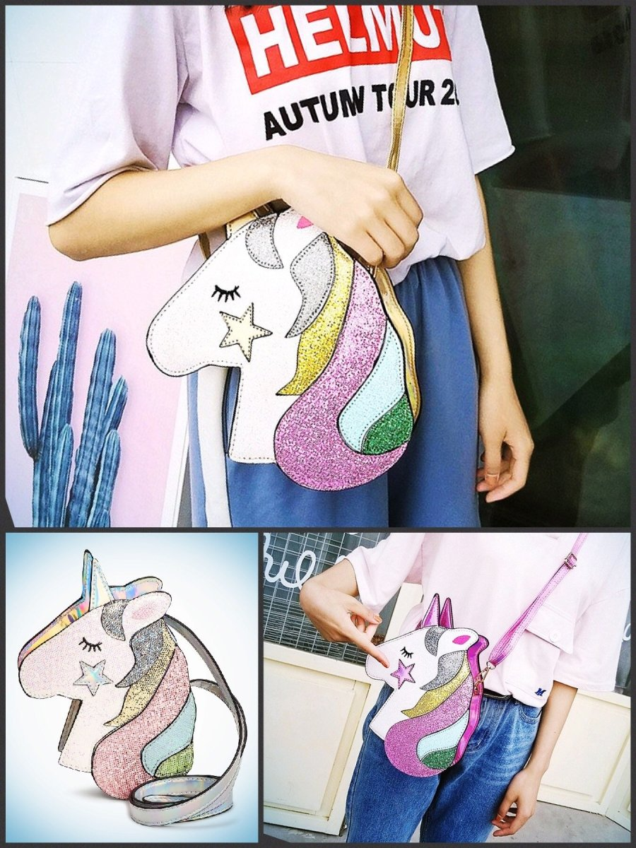 BlissGirl - Holographic Sparkles Unicorn Purse - Harajuku - Kawaii - Alternative - Fashion