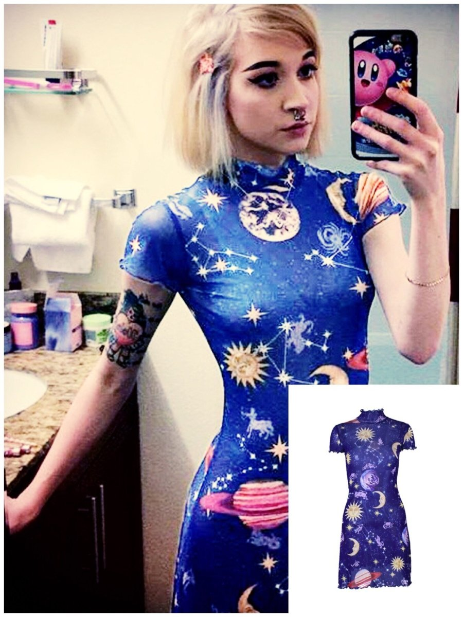BlissGirl - I Am The Galaxy Dress - M - Harajuku - Kawaii - Alternative - Fashion