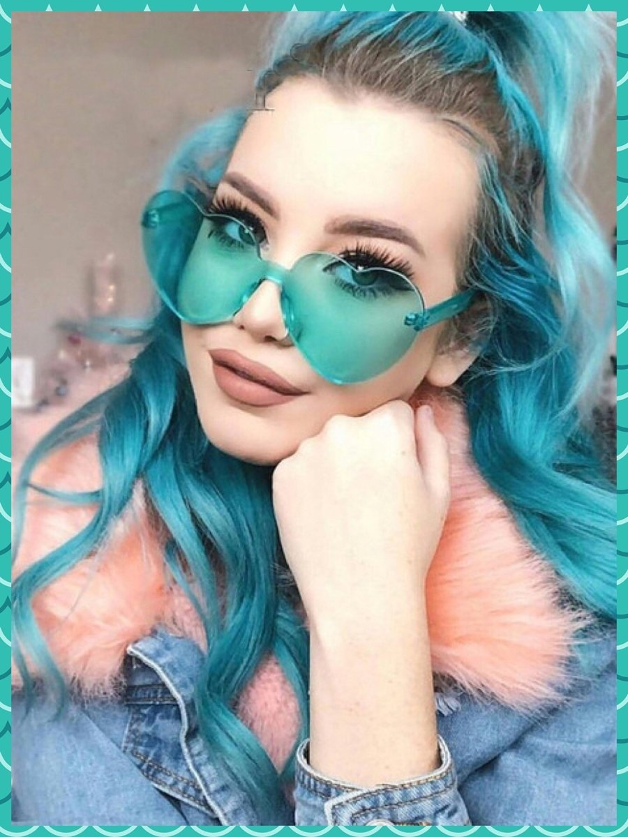 BlissGirl - I Heart You Shades - Turquoise - Harajuku - Kawaii - Alternative - Fashion