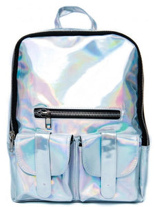 BlissGirl - Iridescent Fairy Backpack - Silver - Harajuku - Kawaii - Alternative - Fashion
