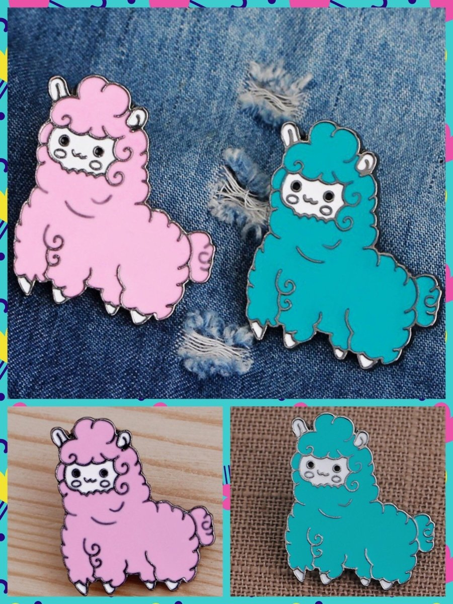 BlissGirl - Kawaii Alpaca Pin - Harajuku - Kawaii - Alternative - Fashion