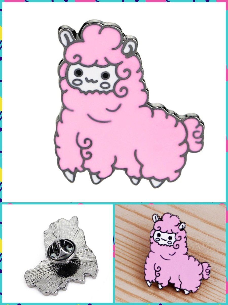 BlissGirl - Kawaii Alpaca Pin - Pink - Harajuku - Kawaii - Alternative - Fashion