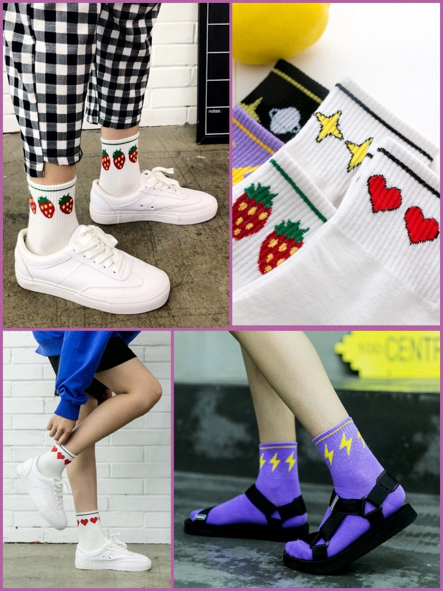 BlissGirl - Kawaii Crew Socks - Harajuku - Kawaii - Alternative - Fashion