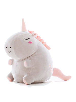 BlissGirl - Kawaii Fat Unicorn Stuffed Animal - 25cm / Grey - Harajuku - Kawaii - Alternative - Fashion