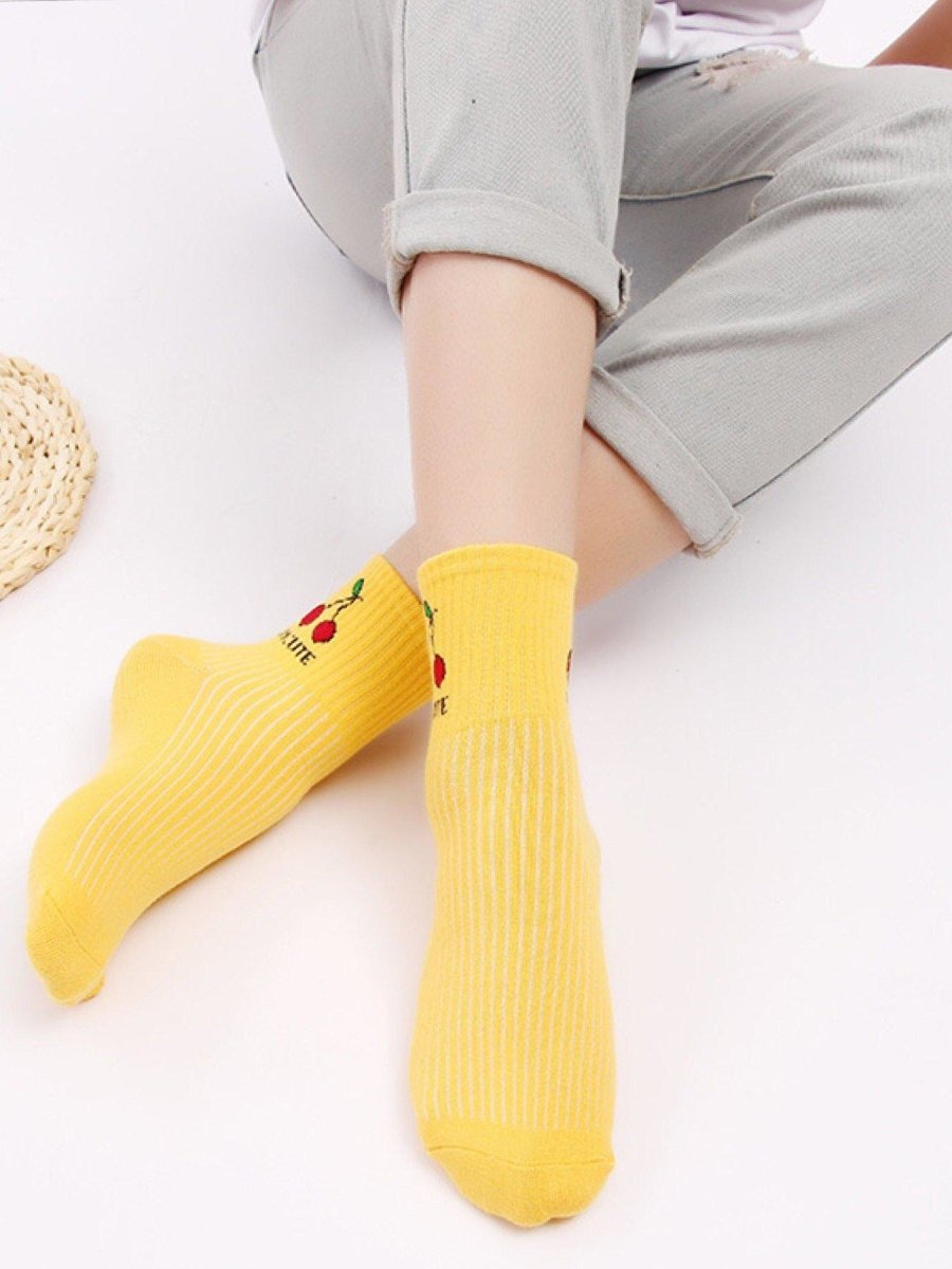 BlissGirl - Kawaii Fruit Socks - Harajuku - Kawaii - Alternative - Fashion