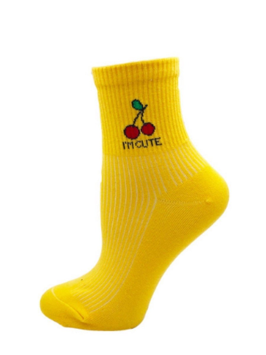 BlissGirl - Kawaii Fruit Socks - Cherry / One size - Harajuku - Kawaii - Alternative - Fashion