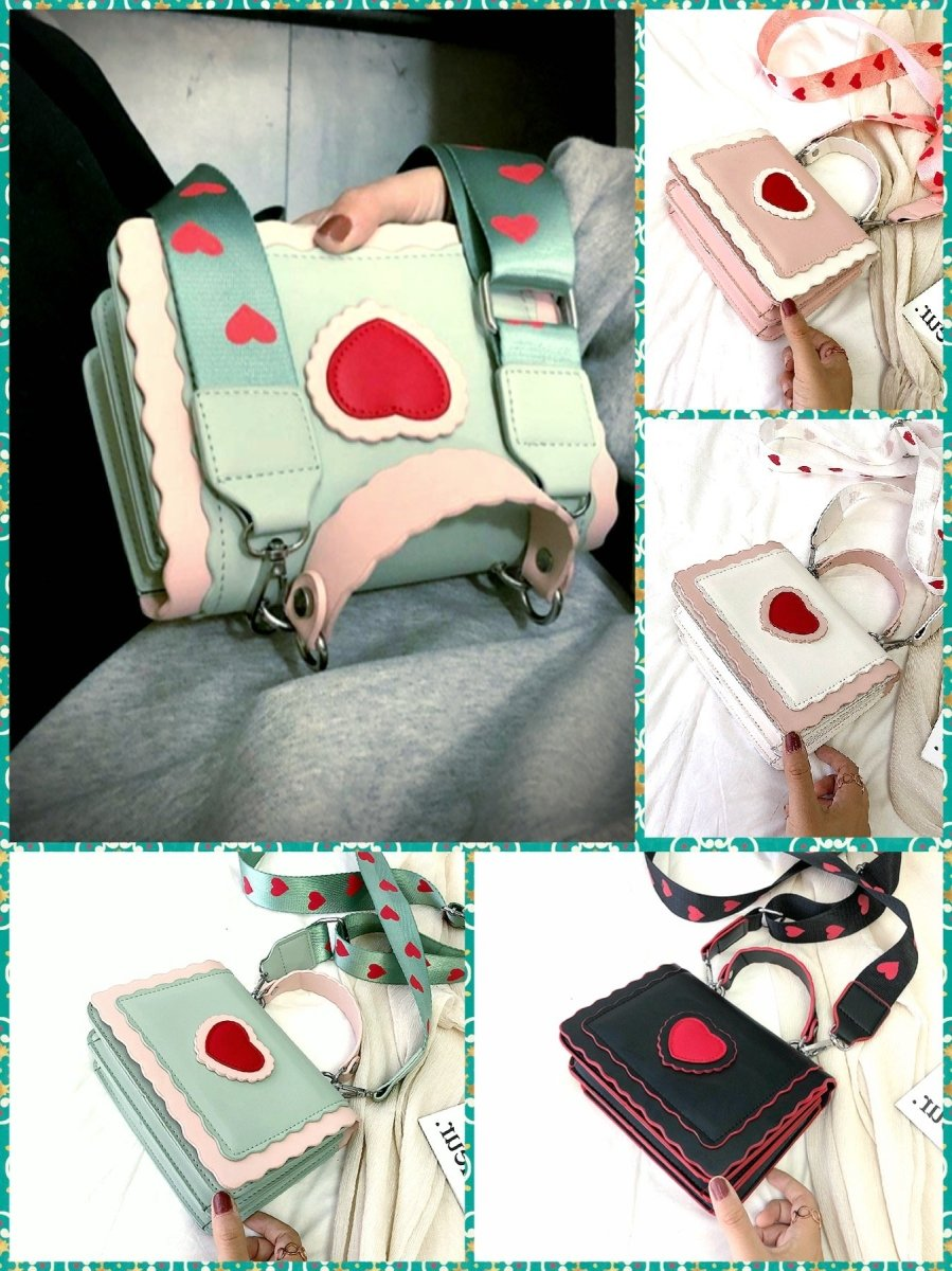 BlissGirl - Kawaii Heart Crossbody Bag - Harajuku - Kawaii - Alternative - Fashion