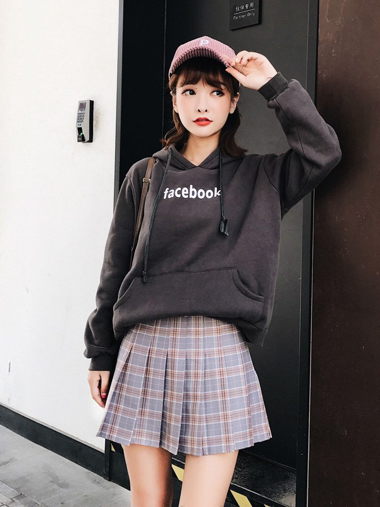 BlissGirl - Kawaii Plaid Pleated Tennis Skirt - Brown / M - Harajuku - Kawaii - Alternative - Fashion