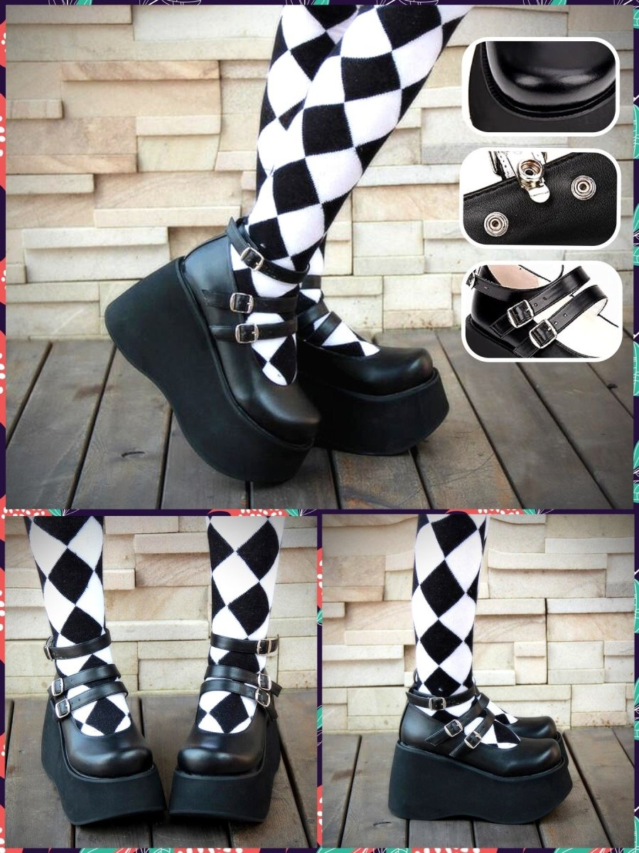 BlissGirl - Kawaii Platform Mary Janes - Harajuku - Kawaii - Alternative - Fashion