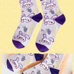 BlissGirl - Kawaii Ruffle Animal Socks - Purple - Harajuku - Kawaii - Alternative - Fashion