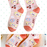 BlissGirl - Kawaii Ruffle Animal Socks - Orange - Harajuku - Kawaii - Alternative - Fashion