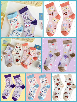 BlissGirl - Kawaii Ruffle Animal Socks - Harajuku - Kawaii - Alternative - Fashion