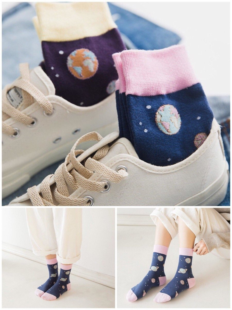 BlissGirl - Kawaii Space Socks - Harajuku - Kawaii - Alternative - Fashion