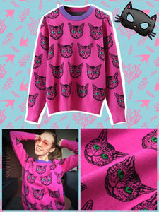 BlissGirl - Kitty Sweater - M - Harajuku - Kawaii - Alternative - Fashion