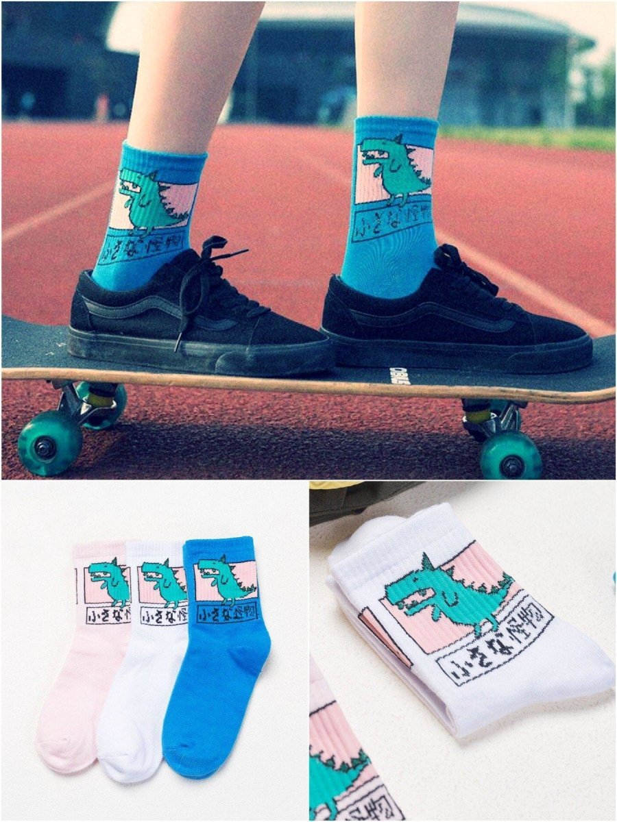 BlissGirl - Little Monster Socks - Harajuku - Kawaii - Alternative - Fashion