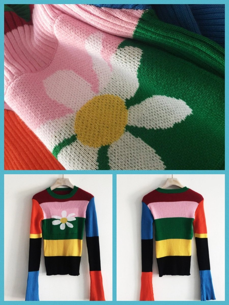 BlissGirl - Love Daisy Sweater - Harajuku - Kawaii - Alternative - Fashion
