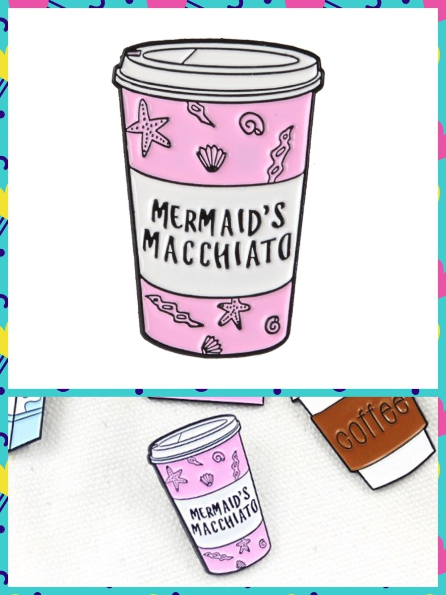 BlissGirl - Mermaid's Macchiato Pin - Mermaid's Macciato - Harajuku - Kawaii - Alternative - Fashion