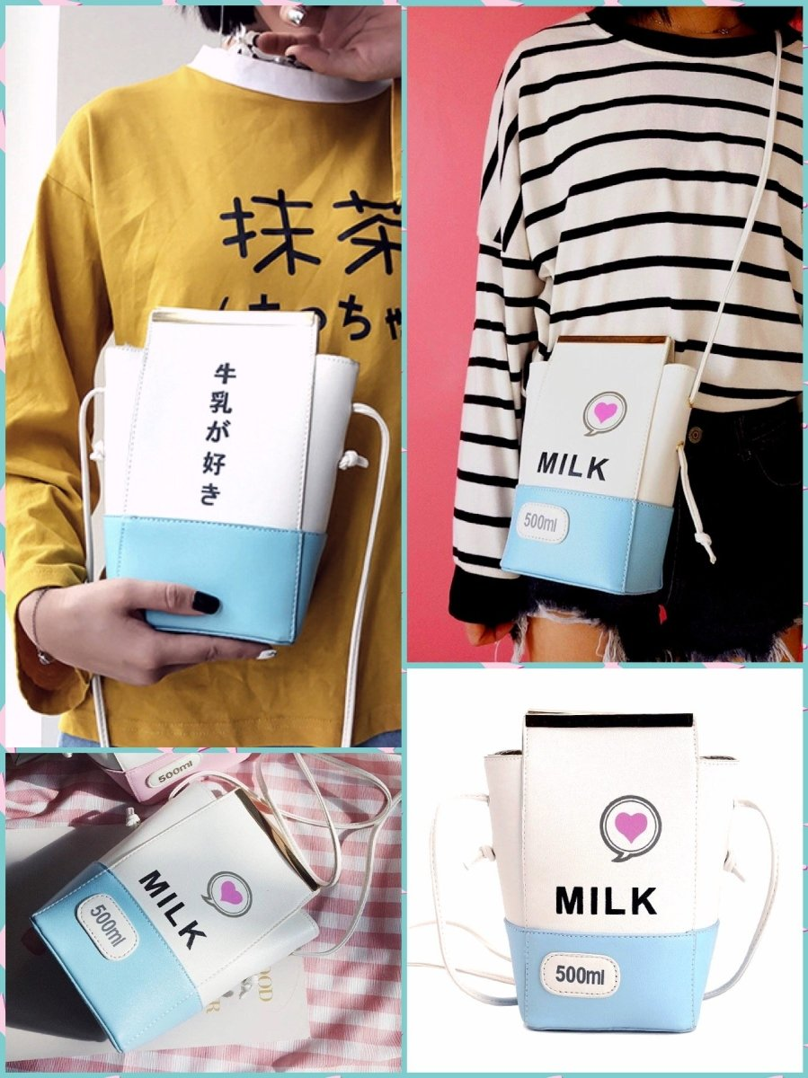 BlissGirl - Milk Box Purse - Blue - Harajuku - Kawaii - Alternative - Fashion
