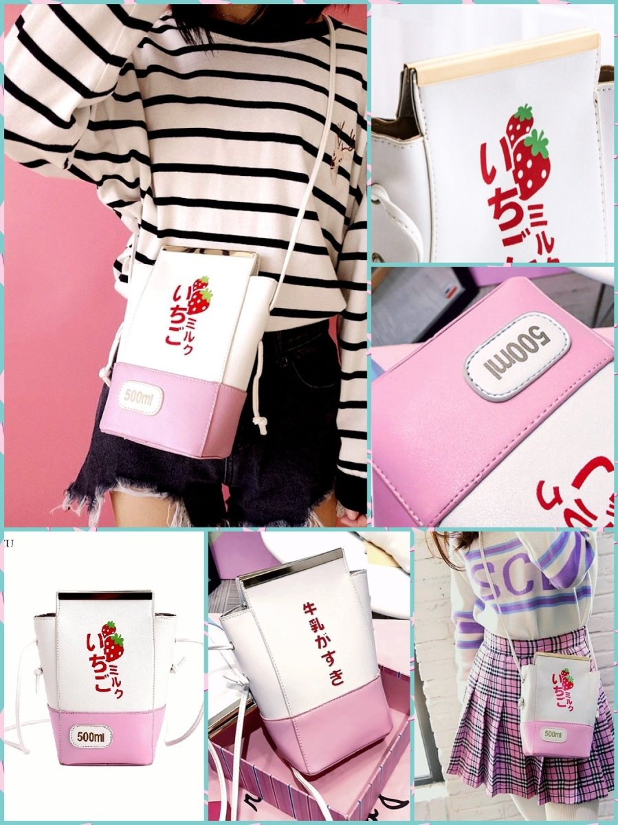 BlissGirl - Milk Box Purse - Pink - Harajuku - Kawaii - Alternative - Fashion