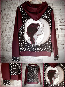 BlissGirl - MoonKissed Hoodie - S - Harajuku - Kawaii - Alternative - Fashion