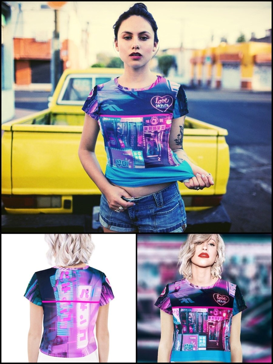 BlissGirl - Neon City Love Tee - XS - Harajuku - Kawaii - Alternative - Fashion