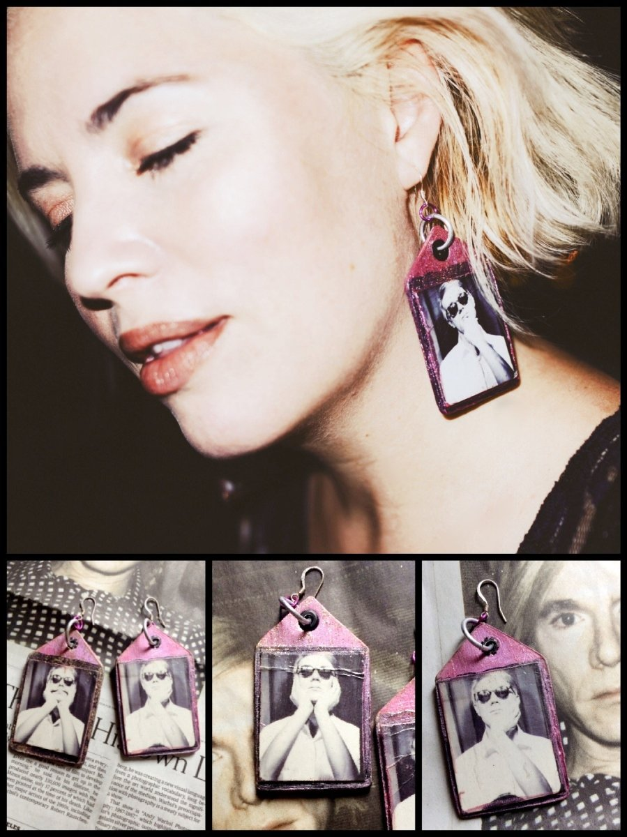 BlissGirl - Original Warhol Punk Earrings - Harajuku - Kawaii - Alternative - Fashion