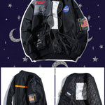 Oversized NASA Bomber Jacket - BlissGirl