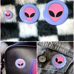 BlissGirl - Pastel Alien Button - Harajuku - Kawaii - Alternative - Fashion