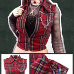 BlissGirl - Plaid Punk Vest - M - Harajuku - Kawaii - Alternative - Fashion